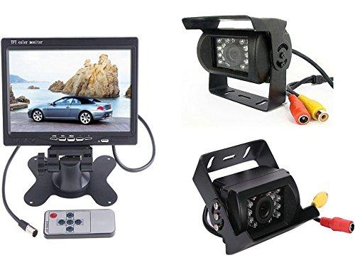 7-LCD-Moniteur-rtroviseur-2x-camra-de-recul-Bus-Lorry-voiture-renversant-Cble-de-camra-vido