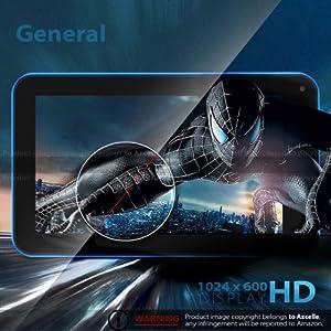 ProntoTec 7 Inch HD 1024x600 Pixels Android Tablet PC, Cortex A8 1.2Ghz Dual Core, 512MB DDR3 RAM,6GB ROM, Android 4.2.2, Dual Cameras, Standard USB Port,Wi-Fi, G-Sensor (Blue)