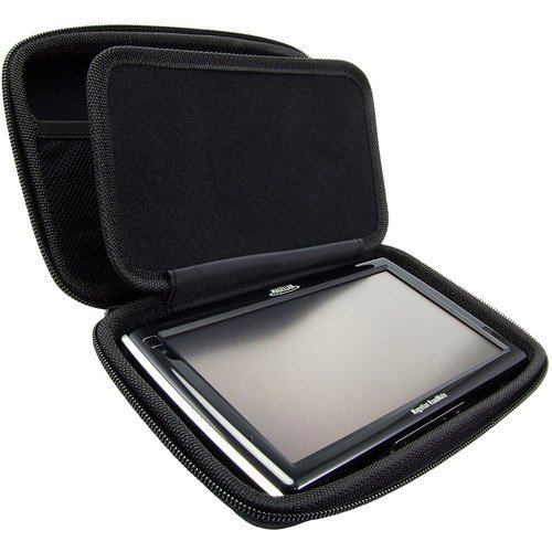 "ChargerCity Extra Large Hard Shell Carry Case For 5 6 7 inch GPS Garmin Nuvi 65 66 67 68 68LMT 2639 2639LMT 2689 2689LMT 2757 2789 2797 2798 RV Magellan Roadmate TOMTOM VIA GO XXL START 5"" 6"" 7"" GPS"