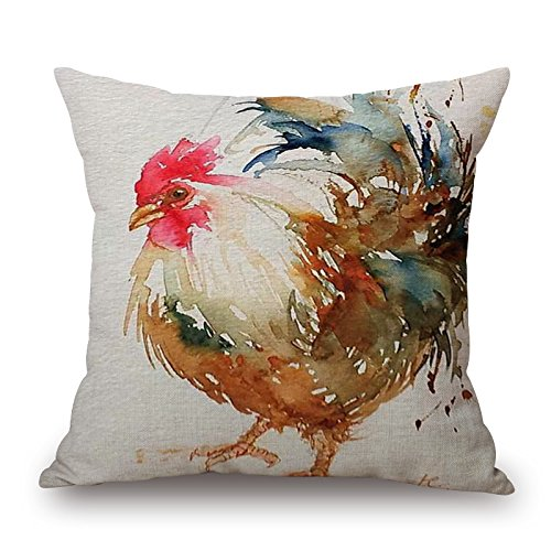 Loveloveu 20 X 20 Inches / 50 By 50 Cm Chicken Throw Pillow Covers,double Sides Is Fit For Bedding,dinning Room,divan,boys,kitchen,divan