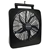 O2 Cool Battery or Electric Portable Fan, 10 Inches, 1071