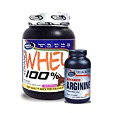 Advance Arginine 240 Capsules& ADVANCE 100% WHEY 25gm Protein Per 33gm 1kg Chocolate (Combo Offer)