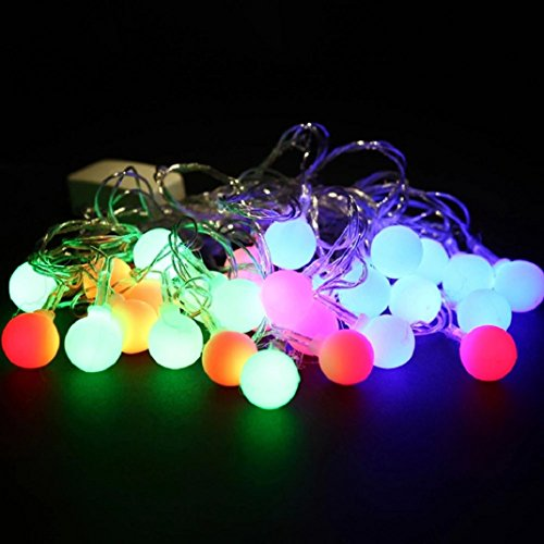 Shensee Functional 5.5M 28LED Bulbs Christmas Fairy Party String Lights Waterproof