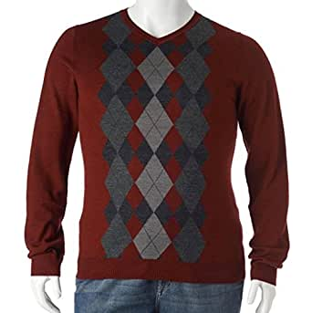 Liz claiborne apt 9 argyle merino wool blend sweater v for Liz claiborne v neck t shirts
