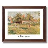 Camille Pissarro French Landscape Flowers Girl Woman Wall Picture Cherry Framed Art Print