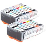 2 Compatible Sets of 6 Canon PGI-525 & CLI-526 Printer Ink Cartridges (12 Inks) - Black / Cyan / Magenta / Yellow / Grey for Canon Pixma MG6150, MG6150, MG6250, MG8150, MG8250, MG8220