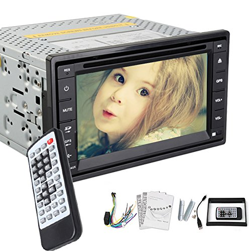 "CD Automotive Parts autoradio 2 din in dash Elettronica Multimedia Auto Radio Headunit MP3 Musica nel mazzo Auto Video Autoradio DVD Touchscreen 6,2 ""logo Costruito in"