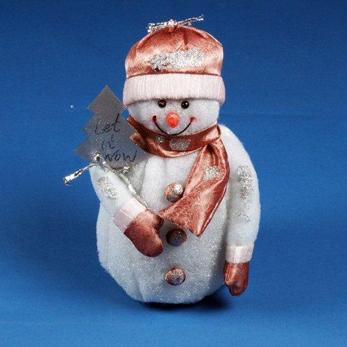 Large 35cm Christmas Decoration Snowman Light Up LED