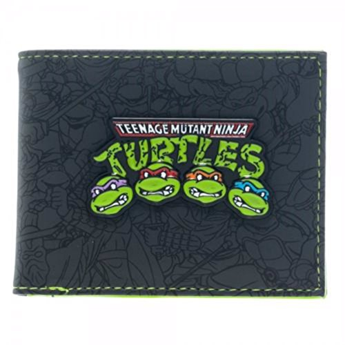 Teenage Mutant Ninja Turtles Group Metal Logo Bifold Wallet (Ninja Turtles Chain Wallet compare prices)