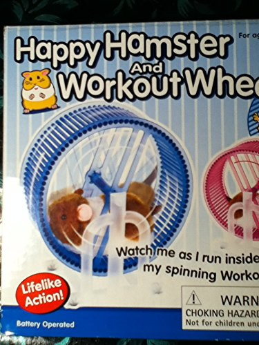 Happy Hamster Pet with WHEEL RUNNER Battery Operated Kid's Toy 51FuBKKdFoL