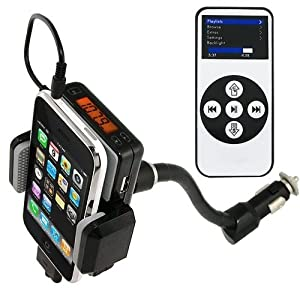 FM Transmitter /Car Charger/ Holder for iPhone 3GS 3G iPod Touch- 4GB, 8GB, 16GB, 32GB, 64GB, 120GB, 160GB from LE