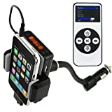 FM Transmitter + Car Charger + Holder ~Remote Included!~ for iPhone 3GS 3G iPod Touch! 4GB, 8GB, 16GB, 32GB, 64GB, 120GB, 160GB