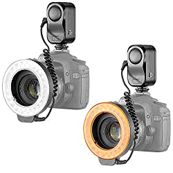 Neewer Bestlight 48 LED Macro Ring Light With 6 Adaptors Rings