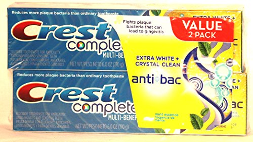 Crest Complete Multi-benefit 6.0 Oz. 2 Pack Toothpaste crest pro health healthy fresh toothpaste 4 7 8 oz