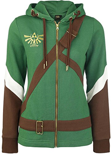 Felpa The Legend of Zelda Ladies Hooded Sweater Link Cosplay Size M Bioworld