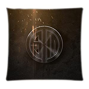 UK-Jewelry Custom Cool Team Solomid Logo Dark Wallpaper Home Textile Print Best Case Two Side Pillowcase 18x18 Inch by UK-Jewelry
