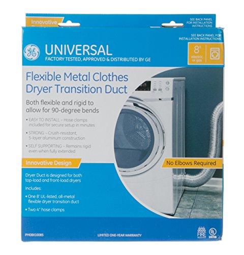 General Electric Pm08X10085 Semi-Rigid Clothes Dryer Duct Kit, 4-Inch X 8-Feet