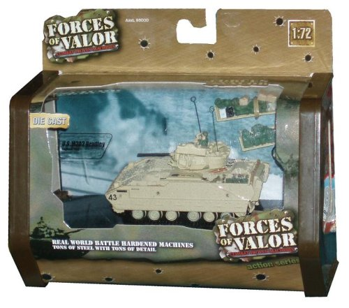 Forces of Valor 1:72 Scale Die Cast Military Combat Proven Machines Battle Vehicle - U.S. M3A2 Bradley Infantry Fighting Vehicle IFV Baghdad 2003 Battle Tank