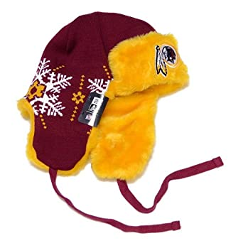 Amazon.com : NFL Washington Redskins Snowflake Trapper