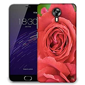 Snoogg Red Roses Designer Protective Phone Back Case Cover For Meizu M2