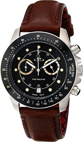 Vivienne Westwood VV118BKBR Montre bracelet Homme, Cuir, couleur: marron