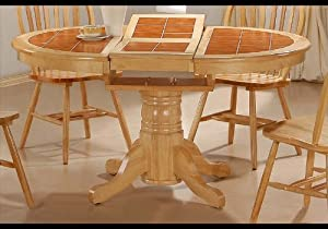 _*) Discount Round Tile Top Natural Dining Room Table ...