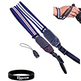 Eggsnow (2-Pack) Camera Wristband Strap for Canon EOS M SX30/40/50 Nikon 1V1 1J1 P7100 Sony NEX-6 NEX-9 etc Digital SLR Cameras - Blue