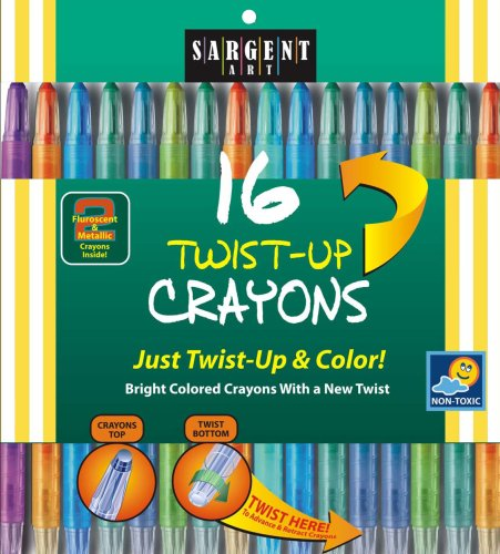 Sargent Art 55-0981 16-Count Twist-Up-Crayons