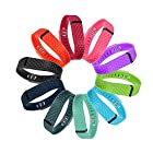 Coolxh 10PCS Colorful Replacement Accessory Wrist Bands laser style for Fitbit FLEX Vivofit (No Tracker, Replacement Bands Only) (Large)