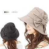 帽子 UV ハット 大きいサイズ つば広 レディース 紫外線対策 商品名 サイドリボンQueenハット UVカット 紫外線カット 日よけ ランキングお取り寄せ