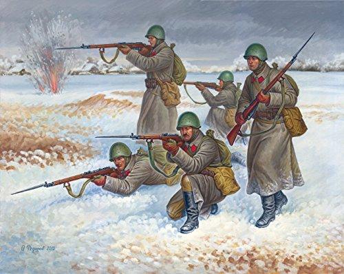 Zvezda Models Soviet Infantry in Winter Snap Fit