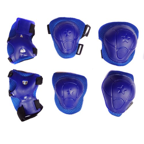Sealike Durable Kid Toddlers Cycling Roller Skating Knee Elbow Wrist Protective Pads for Skateboard and Other Extreme Sports (Blue)
