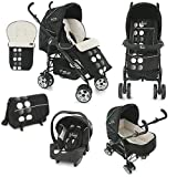 BabyStyle TS2 Travel System Baby Pushchair Pram (Domino Black)