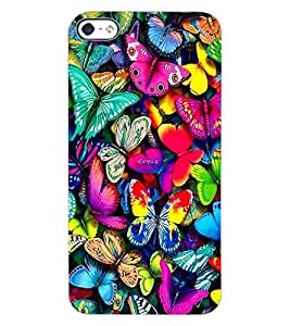 ColourCraft Beautiful Butterflies Design Back Case Cover for APPLE IPHONE 4