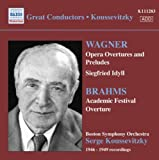 Opera Overtures and Preludes/Academic Festival Overture Wagner/Brahms