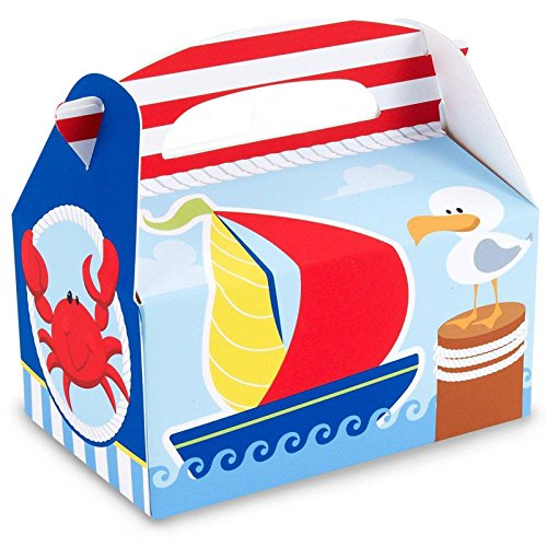 Anchors Aweigh Empty Favor Boxes (4 count) Party Accessory