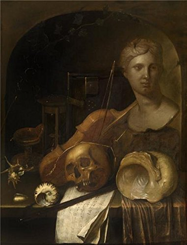 Perfect Effect Canvas ,the Amazing Art Decorative Canvas Prints Of Oil Painting 'Jan Denens - Vanitas', 12x16 Inch / 30x40 Cm Is Best For Bathroom Decoration And Home Decor And Gifts