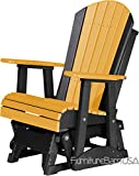 Outdoor Polywood 2 Foot Porch Glider - Adirondack Design *TANGERINE/BLACK* Color