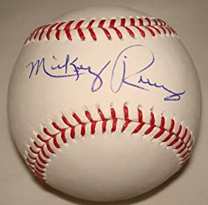 Mickey Rivers Hand Signed Autographed Official Major League Baseball MLB by VIP Memorabilia