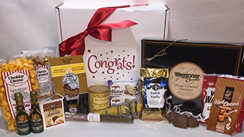 Gourmet Congratulations Gift Box Basket - Baby / Retirement / Graduation / Wedding / Anniversary / New Job or Promotion / New Home / Baptism - Over 4.5 Lbs! Send Your Congrats Today! (Country Corn Flower compare prices)