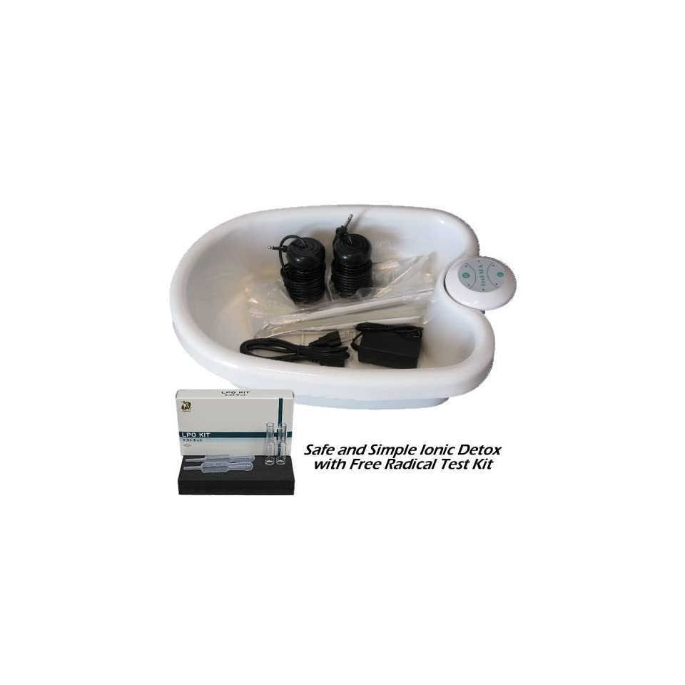 FB501LK Simple Ionic Detox Foot Bath System with Liners and Free Radical Test Kit