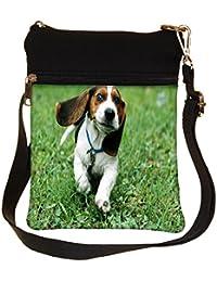 Snoogg Running Dog Cross Body Tote Bag / Shoulder Sling Carry Bag