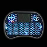 IIDEE i8 blacklight(blue) 2.4GHz Wireless Mini Keyboard with Touchpad Mouse