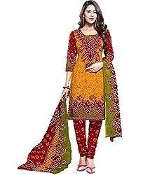 Mahadev Devlopers Women's Cotton Unstitched Dress Material(Multicolor_Free Size)