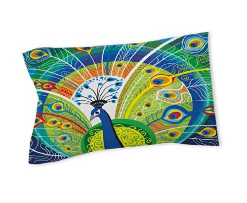 Thumbprintz Pillow Sham, Standard, Peacock Face In Blue front-470898