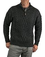 Wool Overs Pull irlandais à fermeture éclair homme en laine