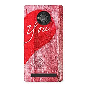 Impressive Pink You Multicolor Back Case Cover for Yu Yuphoria