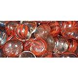 GemStones® Swirls® Decorative Aquarium Stones, Orange & Clear, 90/bag