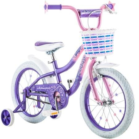 Best-Seller-Bike-for-Children-16-Schwinn-Twilight-Girls-Bike-PinkPurple-Schwinn-easy-to-pedal-Easy-Adjustable-Seat-Post