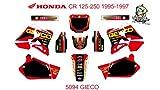 DECALS KIT DESIGN for HONDA CR 125-250 1995-1997 NO.5094